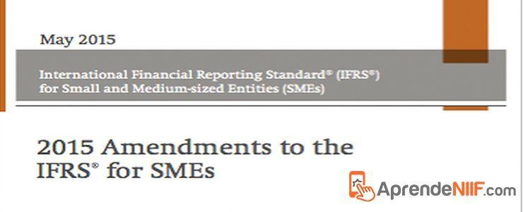 NIIF para las Pymes Enmendado 2015 IFRS for SME