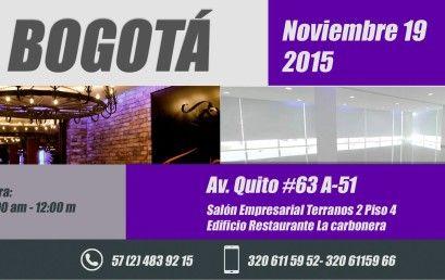 Invitación Evento Presencial en Bogotá 19 de Noviembre de 2015