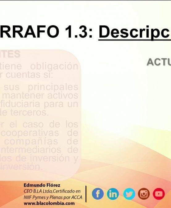 Enmiendas 2015 Sección 1: Pequeñas y Medianas entidades
