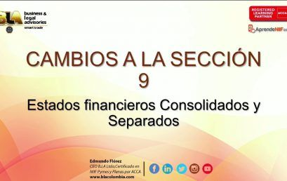 Modificaciones 2015 Seccion 9 Estado Financieros Consolidados y Separados