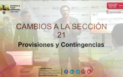 Modificaciones 2015 Seccion 21 Provisiones y Contingencias