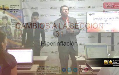 Modificaciones 2015 seccion 31 Hiperinflación