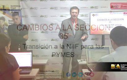 Modificaciones 2015 seccion 35 Transición a la NIIF para las PYMES