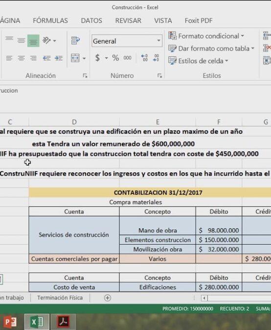 EJERCICIO CONTRATOS DE CONSTRUCCIÓN