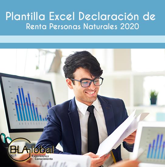 Plantilla Excel Declaración de Renta Personas Naturales 2020
