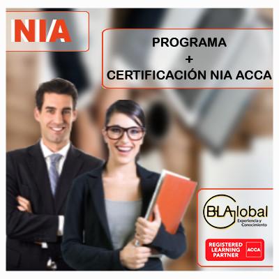 Material de preparación NIA ACCA 25 horas + Curso virtual NIA 40 horas + Certificación Internacional en NIA ACCA